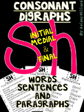 Consonant Blends for Sh (Initial, Medial & final) Sentences, words & more