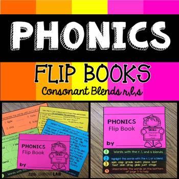 Consonant Blends r, l, s   Phonics Flip Book