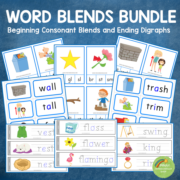 Consonant Blends with Ending Digraphs BUNDLE