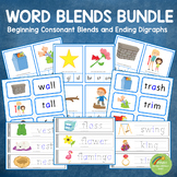 Consonant Blends with Ending Digraphs BUNDLE