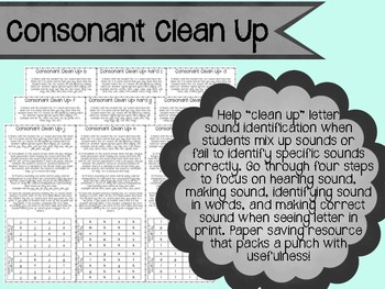 Consonant Clean Up: help students identify correct letter sounds