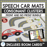 Consonant Cluster Speech Car Mats for Articulation Print and No Print