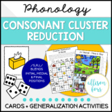 Consonant Cluster Reduction Phonology for Speech Therapy