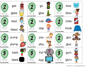Consonant Cluster Reduction Game for Speech Therapy!