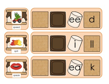 Consonant Cluster S'mores Game for s blends, l blends, and r blends