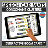 Consonant Cluster Speech Therapy Car Mats Interactive Boom Cards