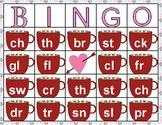 Consonant Cluster and Consonant Digraph Valentine's Day Bingo