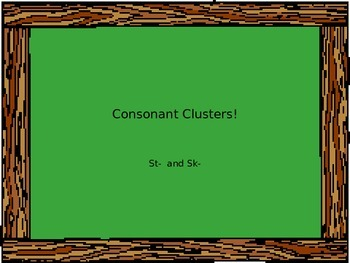 Consonant Clusters Minilesson
