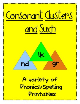 Consonant Clusters and Such Packet