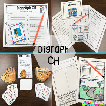 Consonant Digraph CH Word Work Packet