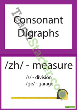 Consonant, Diagraph, Long, Short, R Controlled & Other Vowel Sound Posters