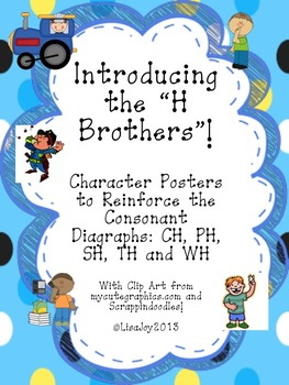 """Consonant Digraph Posters!  Introducing the """"H Brothers!"""""""