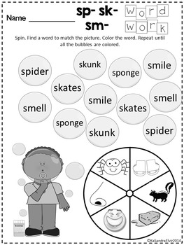 Consonant Diagraphs and Blends Word Work