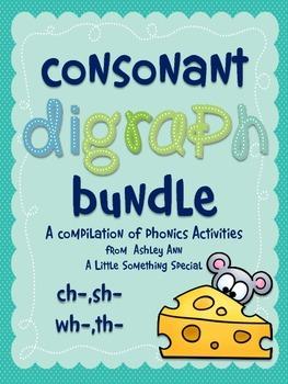 Phonemic Awareness: Consonant Digraph Activity Pack!