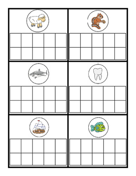 Consonant Digraph Blends Phonome-Graphing Mapping Cards