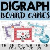 Consonant Digraph Board Games - th, sh, ch, wh, ph, kn, kn
