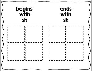 Consonant Digraph CH, SH, and TH Sort