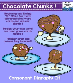 """CH"" Digraph (Chocolate Chunks)"