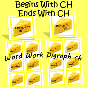 Ch initial and final Consonant Digraph Word Work