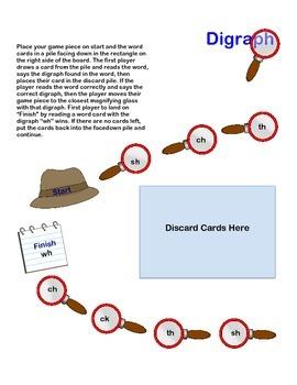 Consonant Digraph Detectives Game