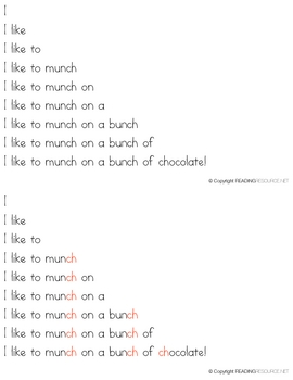 Consonant Digraph Fluency Builders
