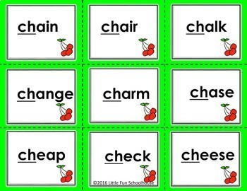 Consonant Digraph Initial Sound Ch Sh Th Games and Flash Cards BUNDLE