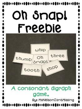 Consonant Digraph Oh Snap! Freebie