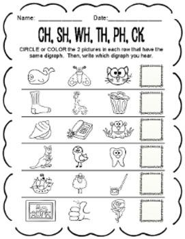 Consonant Digraph Packet