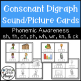 Consonant Digraph Picture Cards - Color and Black & White