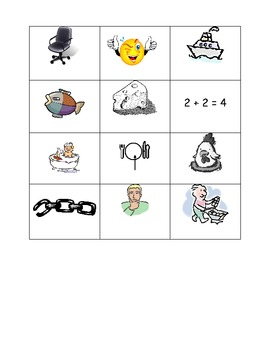 Consonant Digraph Picture Sort