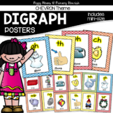 Consonant Digraph Posters {Chevron Theme}