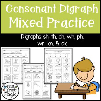 Consonant Digraph Practice Worksheets