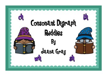 Consonant Digraph Riddles
