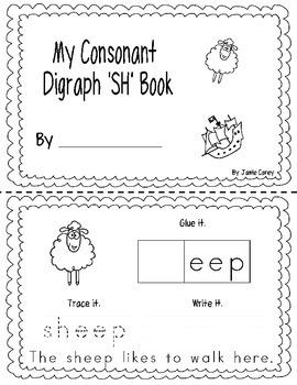 """Consonant Digraph """"SH"""" Book"""