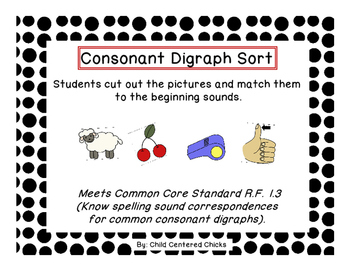 Common Core - Consonant Digraph Sort