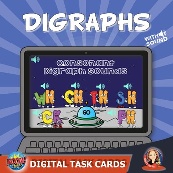 Consonant Digraph Sounds Digital Boom Task Cards
