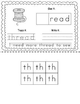 "Consonant Digraph ""TH"" Book"