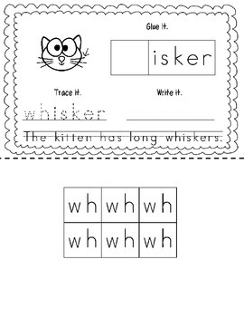 "Consonant Digraph ""WH"" Book"
