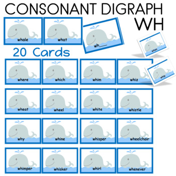 Word Work  Consonant Digraph WH Sorting Center  (28 cards)