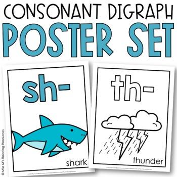Consonant Digraph Wall Card Set