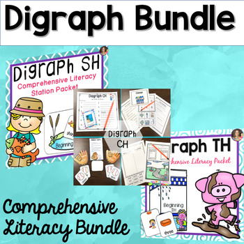 Digraph Word Work Bundle (Includes:sh, ch and th)