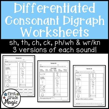 Consonant Digraphs Worksheet Teaching Resources Teachers Pay Teachers