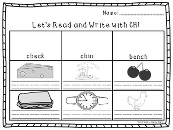 Consonant Digraph and Blends Read and Write