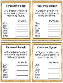 Consonant Digraph and Word Work Activities