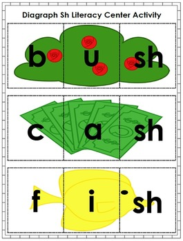 Consonant Digraph (sh, ch, th) Fun: Literacy Center Activity Pack