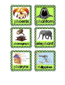 Consonant Digraph words and pictures