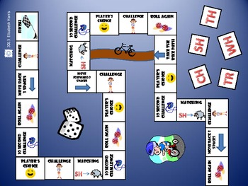 Consonant Digraph/Blend Board Game
