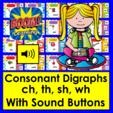 Boom Cards™ Consonant Digraphs 20 Self-Checking Digital Ca