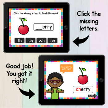 Phonics Activity: Consonant Digraphs Free Phonics Clip Cards