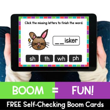 Phonics Activity: Consonant Digraphs Free Phonics Clip Cards